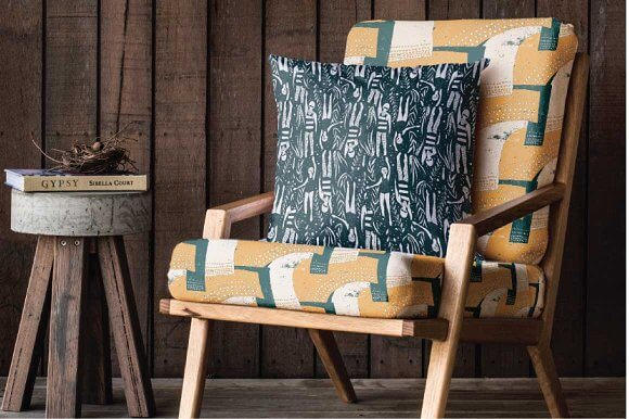 Cozy Chair with Cushions Mockup