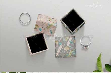 Different Designs Of Jewelry Box PSD Design