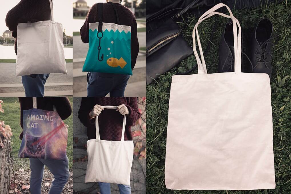 Different Shades Of Tote Bag PSD Design