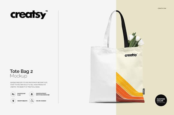 Editable Tote Bag Mockup.
