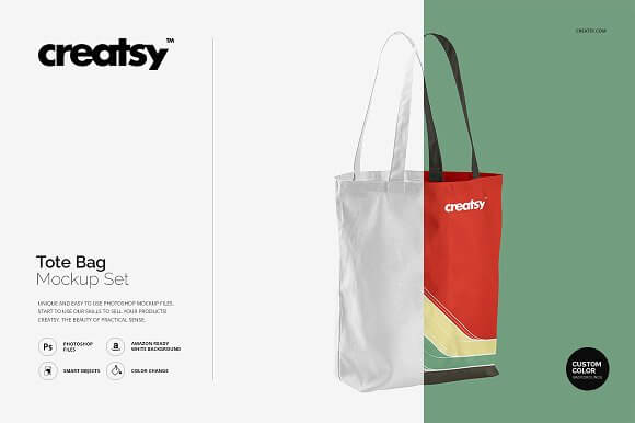 Editable Tote Bag Mockup