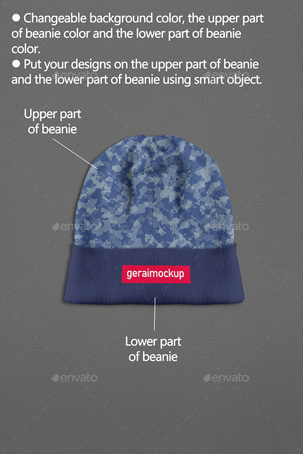 Elements Changeable Beanie PSD Template