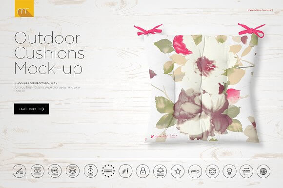 Floral Cushion Design PSD