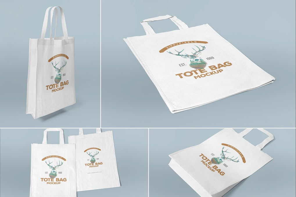 Foldable Tote Bag Mockup