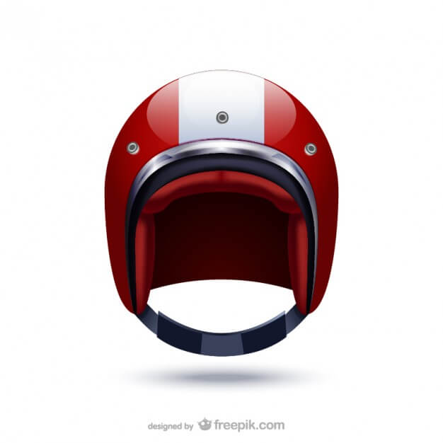 Free Red Colored Sports Helmet Vector Illustration