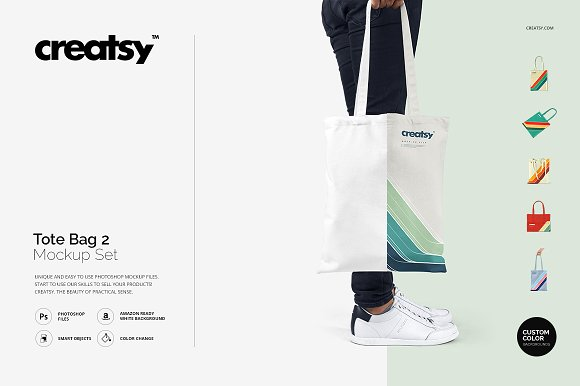 Fully Editable Tote Bag Mockup