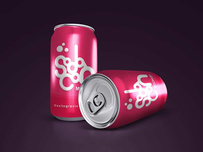 Great Looking Soda Can design template