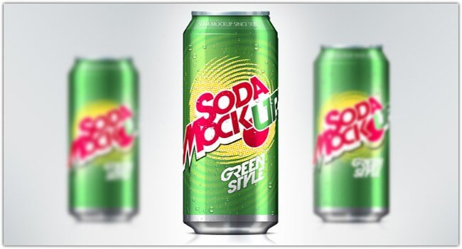Green Color Soda Can Template