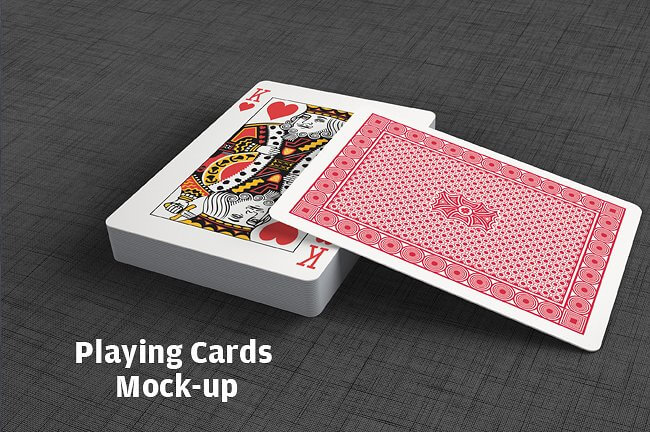 HD PLAYING CARD MOCKUP