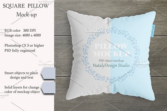 Half Styled Cushion PSD Design