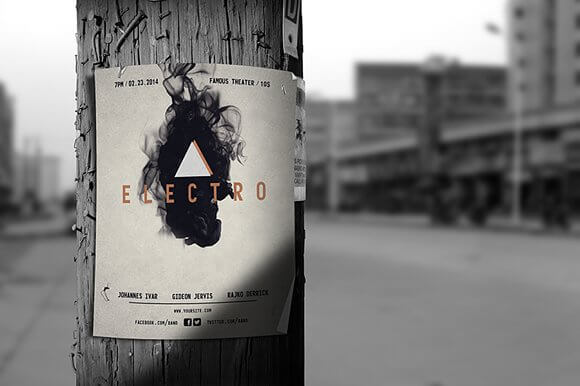 High Graphic Street Poster Mockup
