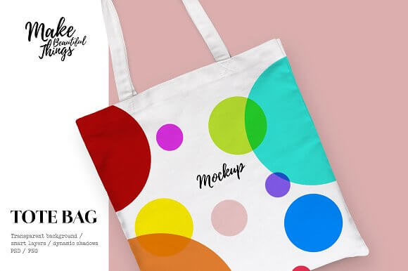 Isolated Tote Bag Design