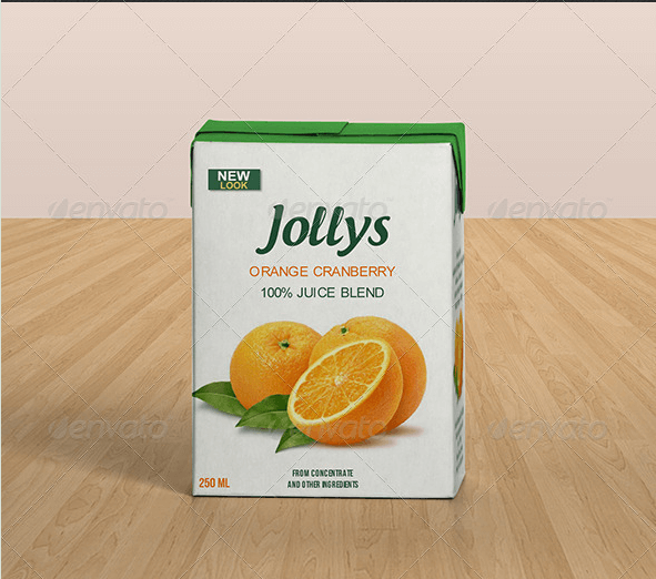 Juice Packet Template PSD
