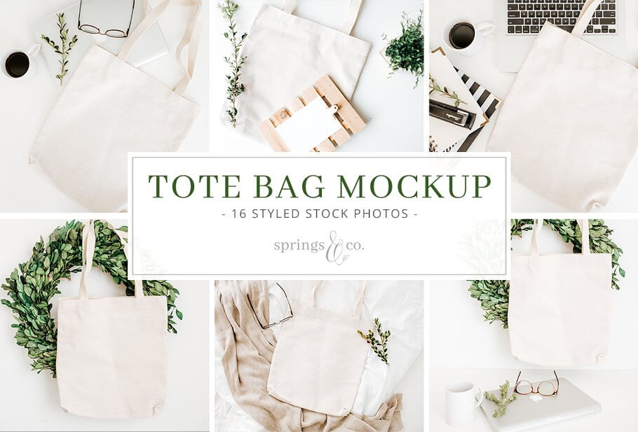 Light Colored Tote Bag Design