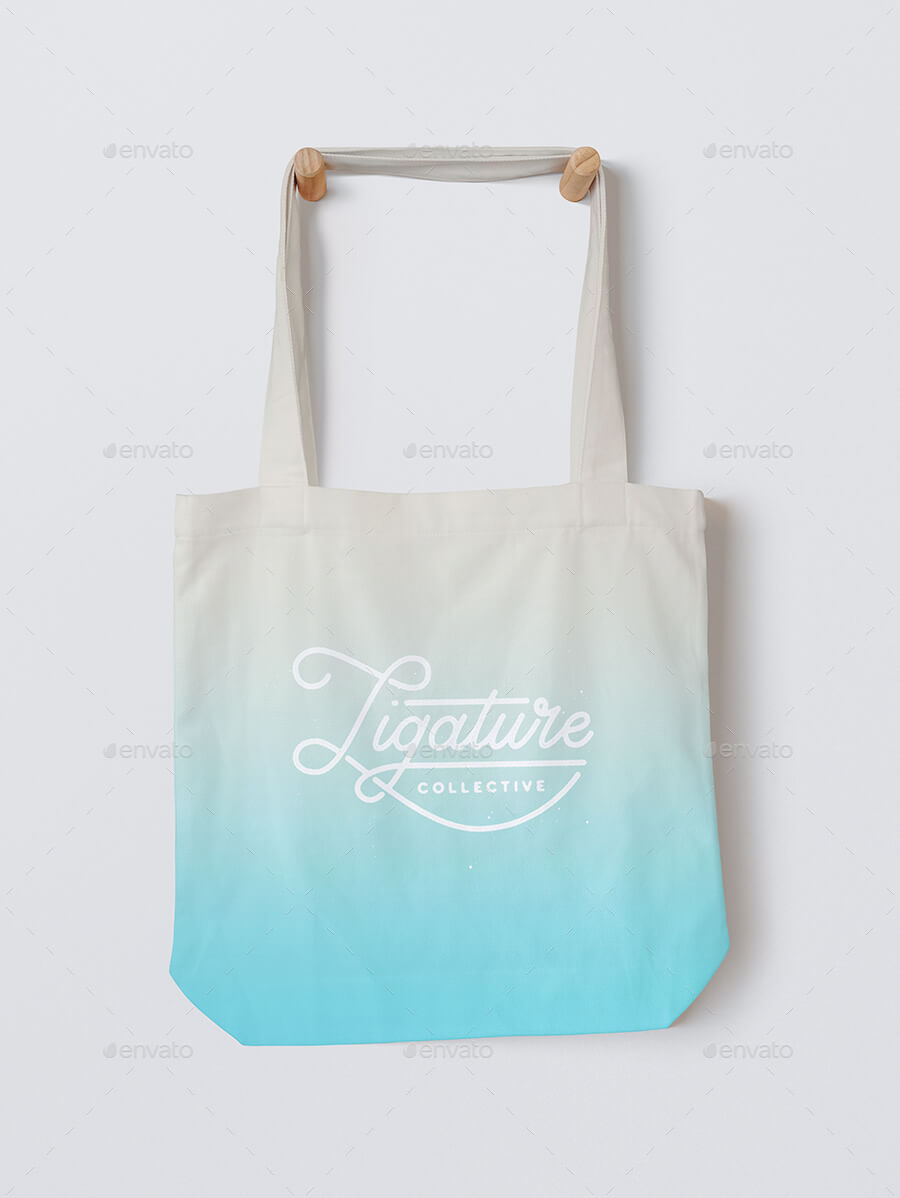 Light Colored Tote Bag PSD Template