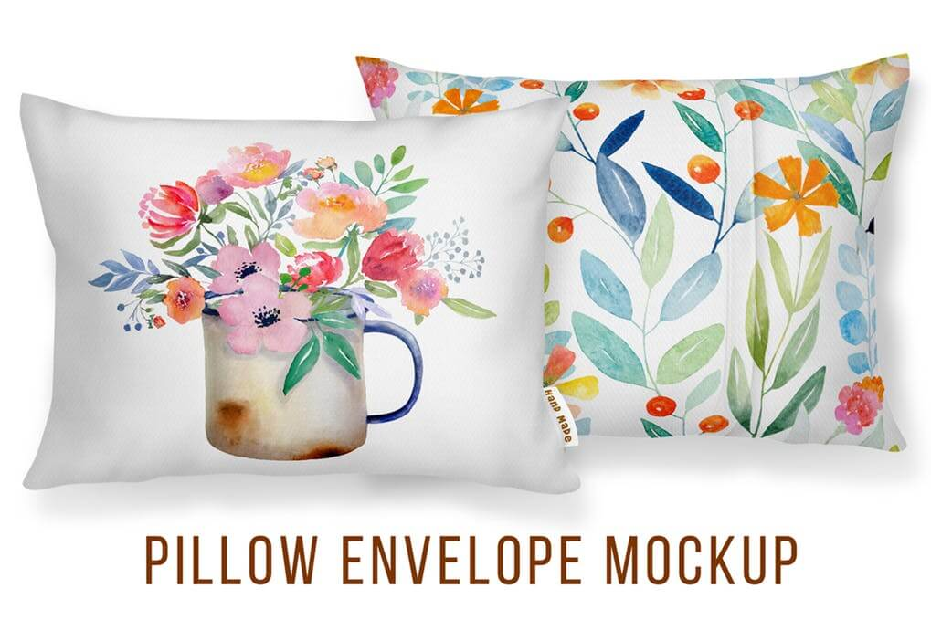 Magnified Print on Cushion Design Mockup