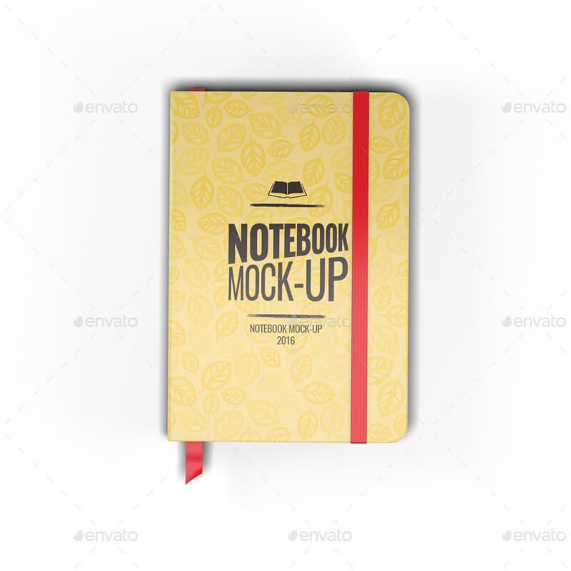 Notebook Bookmark Mockup PSD