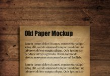 Free Old Paper Mockup PSD Template