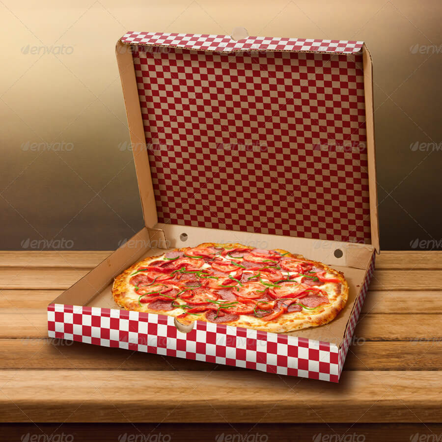 Best Pizza Box Mockup | 30+ Free & Premium Pizza PSD Templates Collection 7