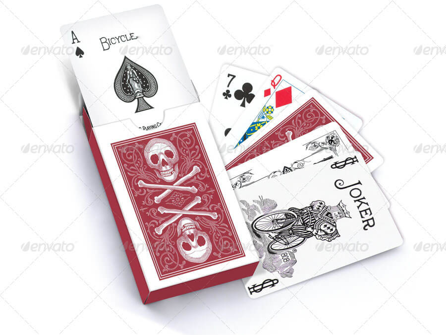 PHOTOREALISTIC Playing Card Design Mockup Template