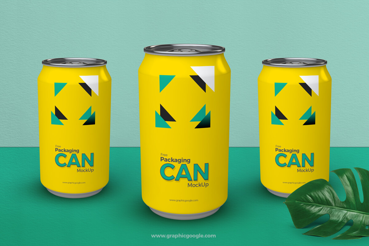Packaging Can Mockup PSD