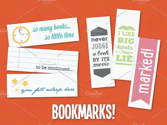 Quote Bookmark Mockup PSD