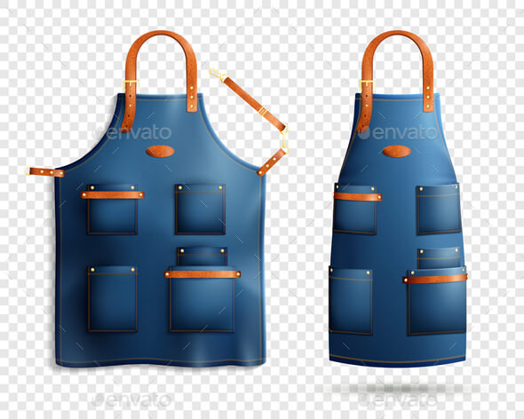 Realistic Apron In A Transparent Background Vector