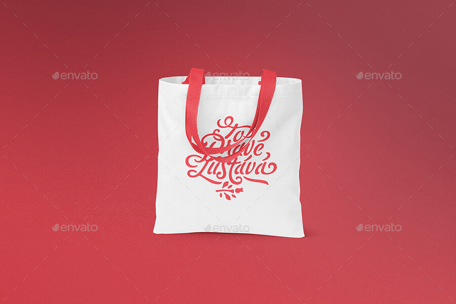Red And White Tote Bag Design
