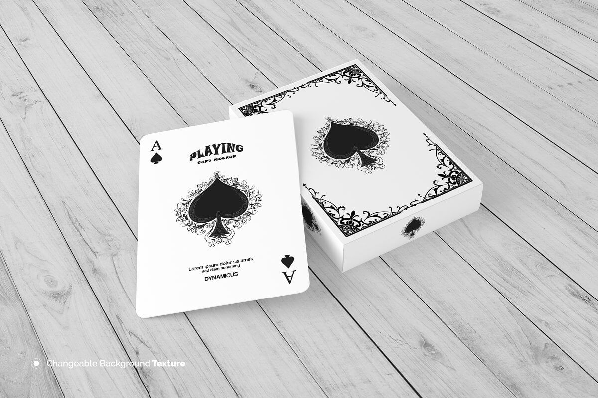 STANDARD PLAYING CARD MOCKUP