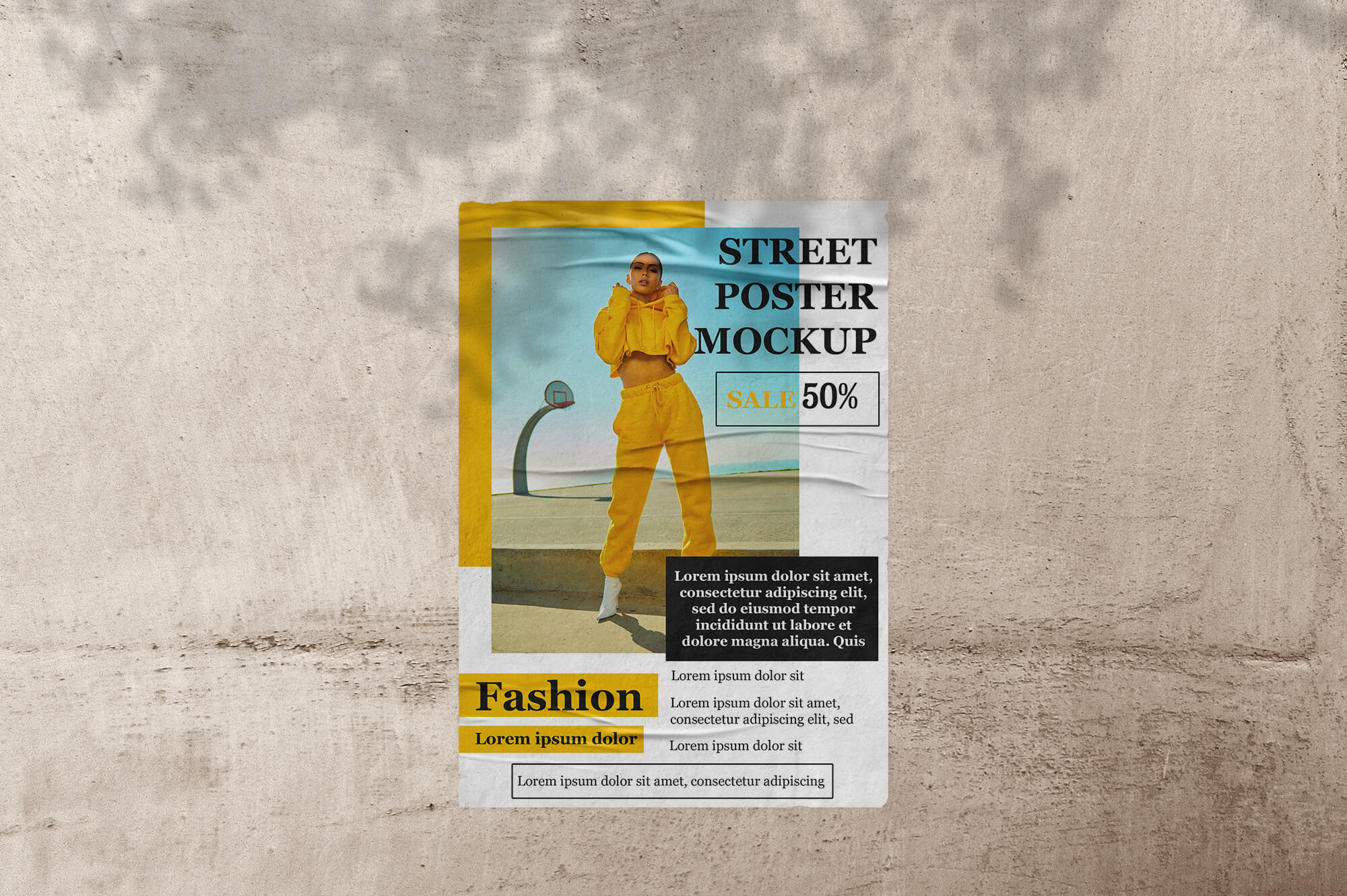 Free Street Poster Mockup PSD Template