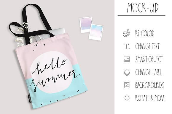Simple Tote Bag Mockup
