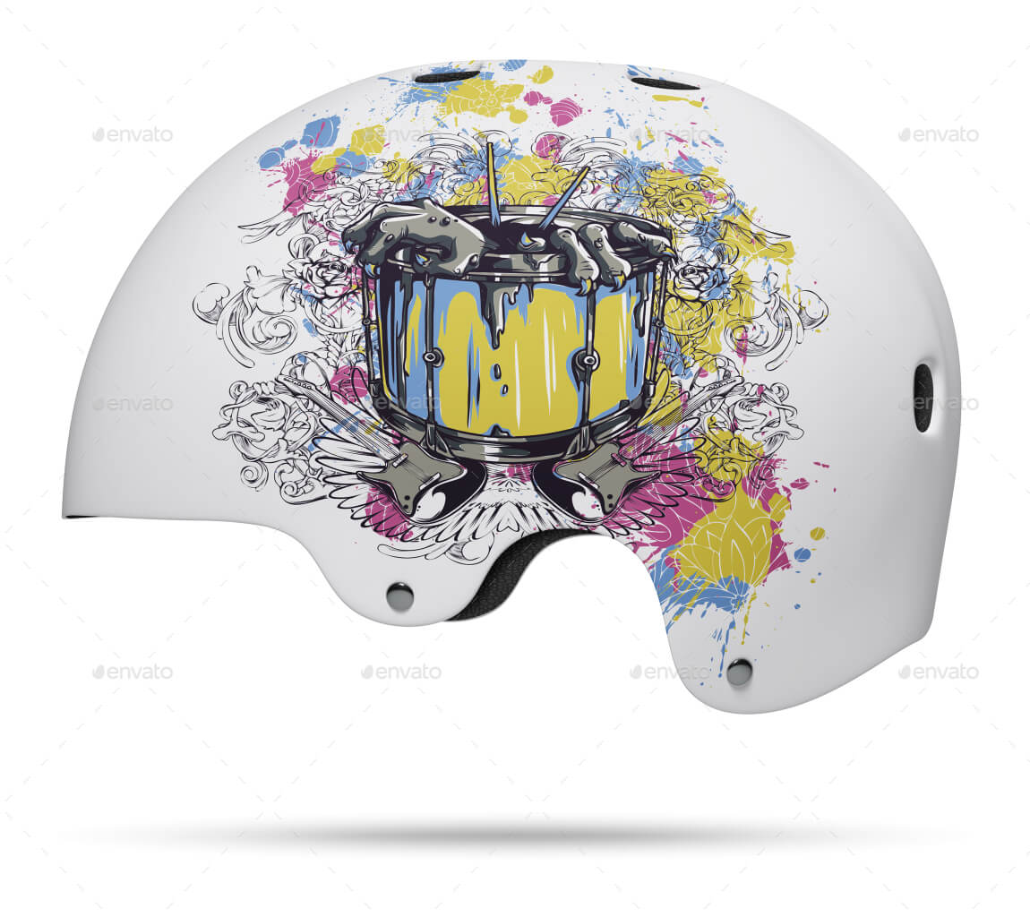 Skate Helmet Mockup PSD