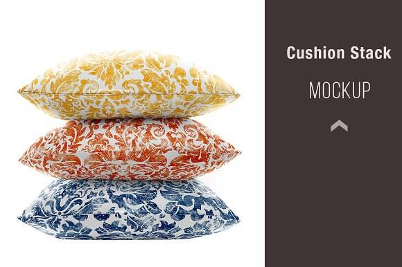 Stacked of 3 Editable Cushion Design PSD