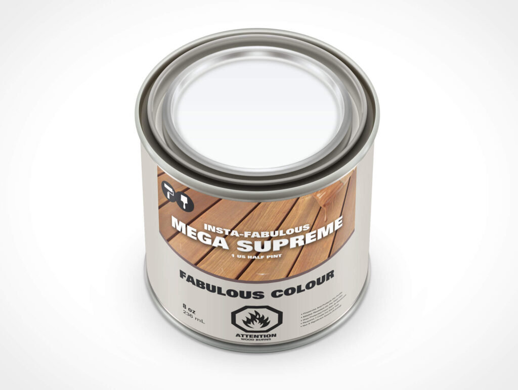 Supreme Colour Can template in PSD