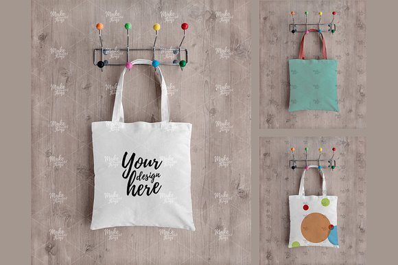 Tote Bag Hanging On The Wall