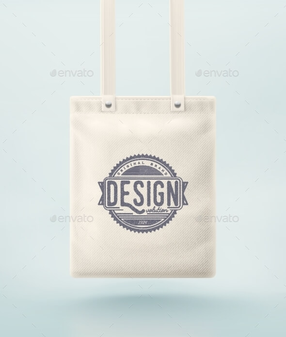 Tote Bag With A Long Handle Mockup