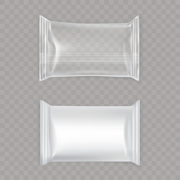 Transparent Plastic Packaging Pouch Mockup