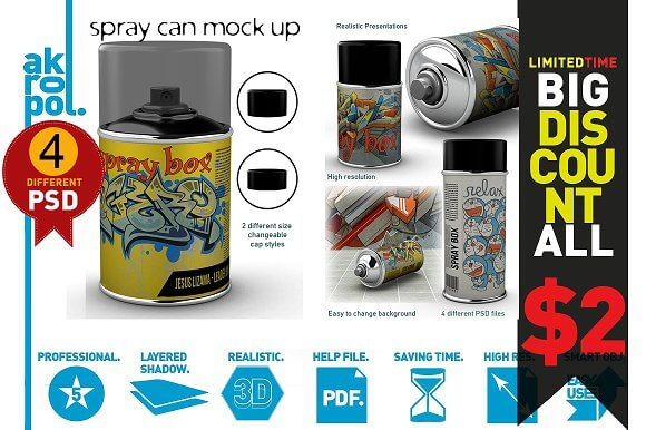 55+ Diversified list of Free Can Mockup in PSD and Vector Template 8