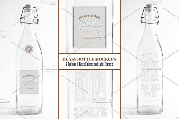 Unique Drinking Water Bottle PSD Mockup