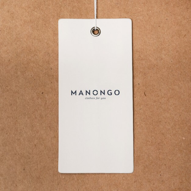 White Color Lable And Tag Mockup