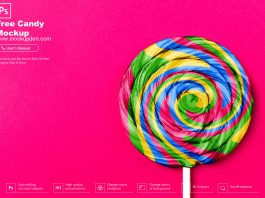 Free Candy Mockup PSD Template