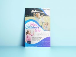 Free Children's Day Flyer PSD Temlate