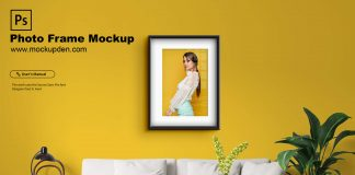 Free Photo Frame Mockup PSD Template