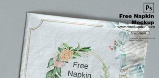 Free Napkin Mockup PSD Template