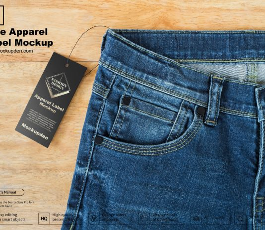 Free Apparel Label Mockup PSD Template