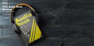 Free Audio Book Mockup PSD Template