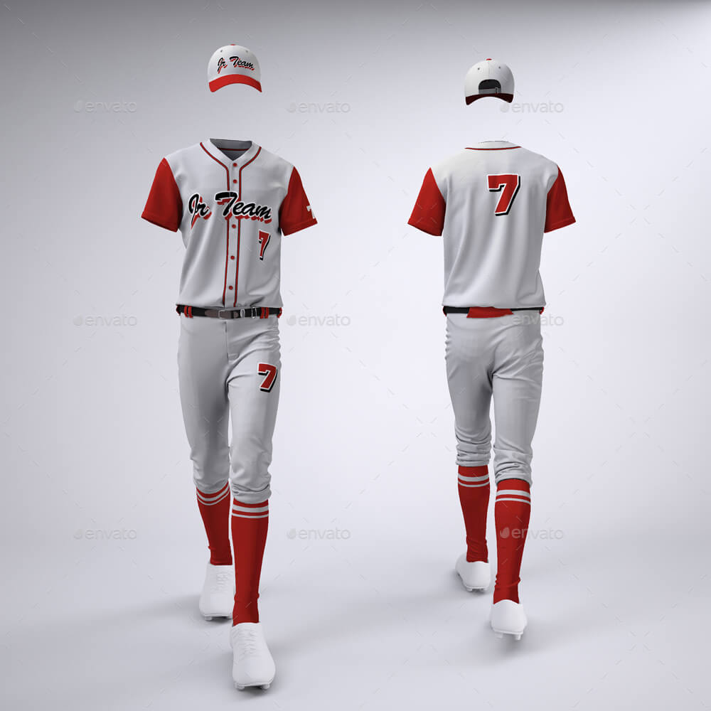 Baseball uniform design PSD