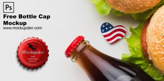 Free Bottle Cap Mockup PSD Template