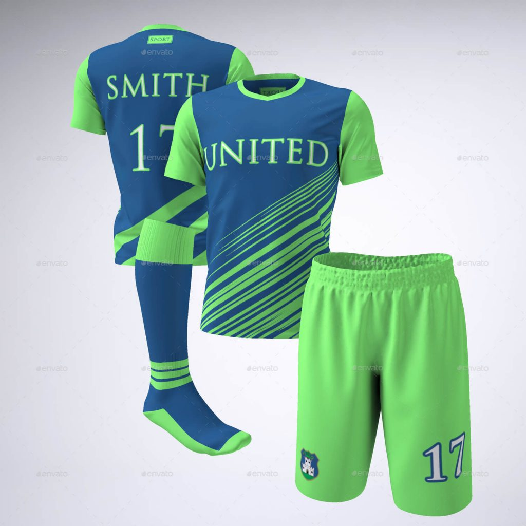 Football jersey uniform PSD Design