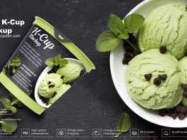 Free K-Cup Mockup PSD Template
